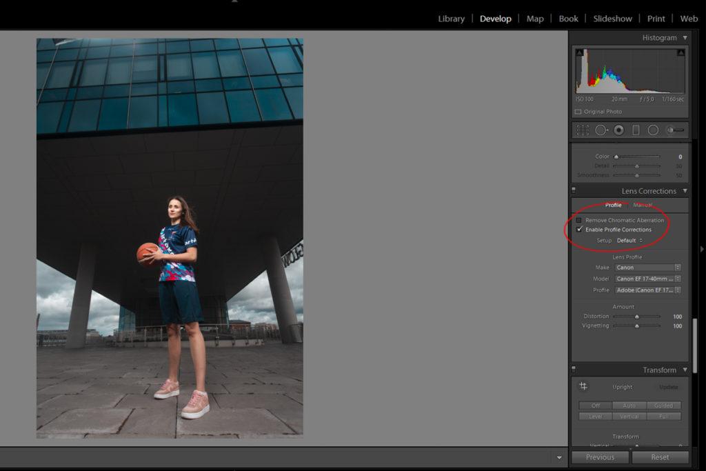 jak wyprostować zdjęcie korekta obiektywu