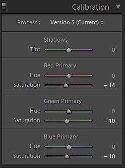 korekta kolorów w lightroomie kalibracja kolorów